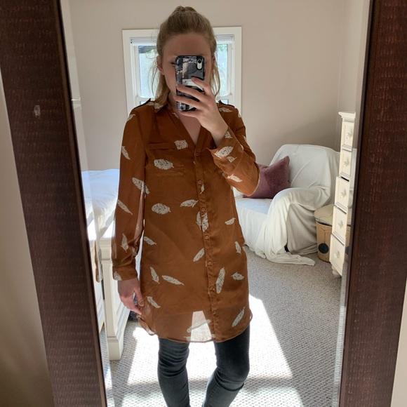 Sheer tunic